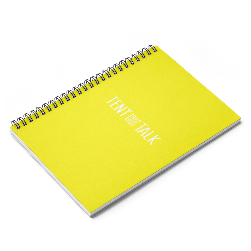 Tent Talk Spiral Notebook - Yellow