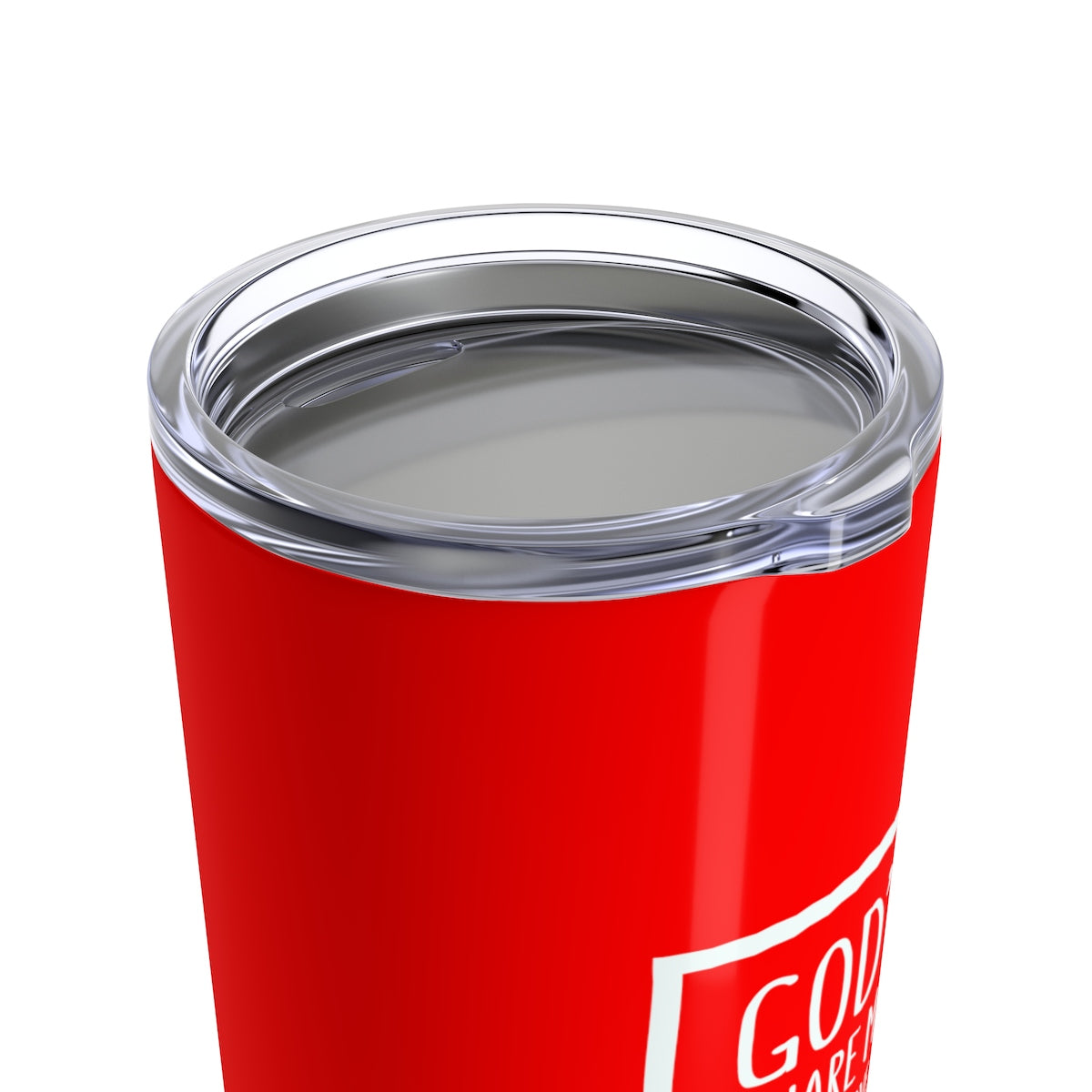 God's Square Mile Tumbler: Red