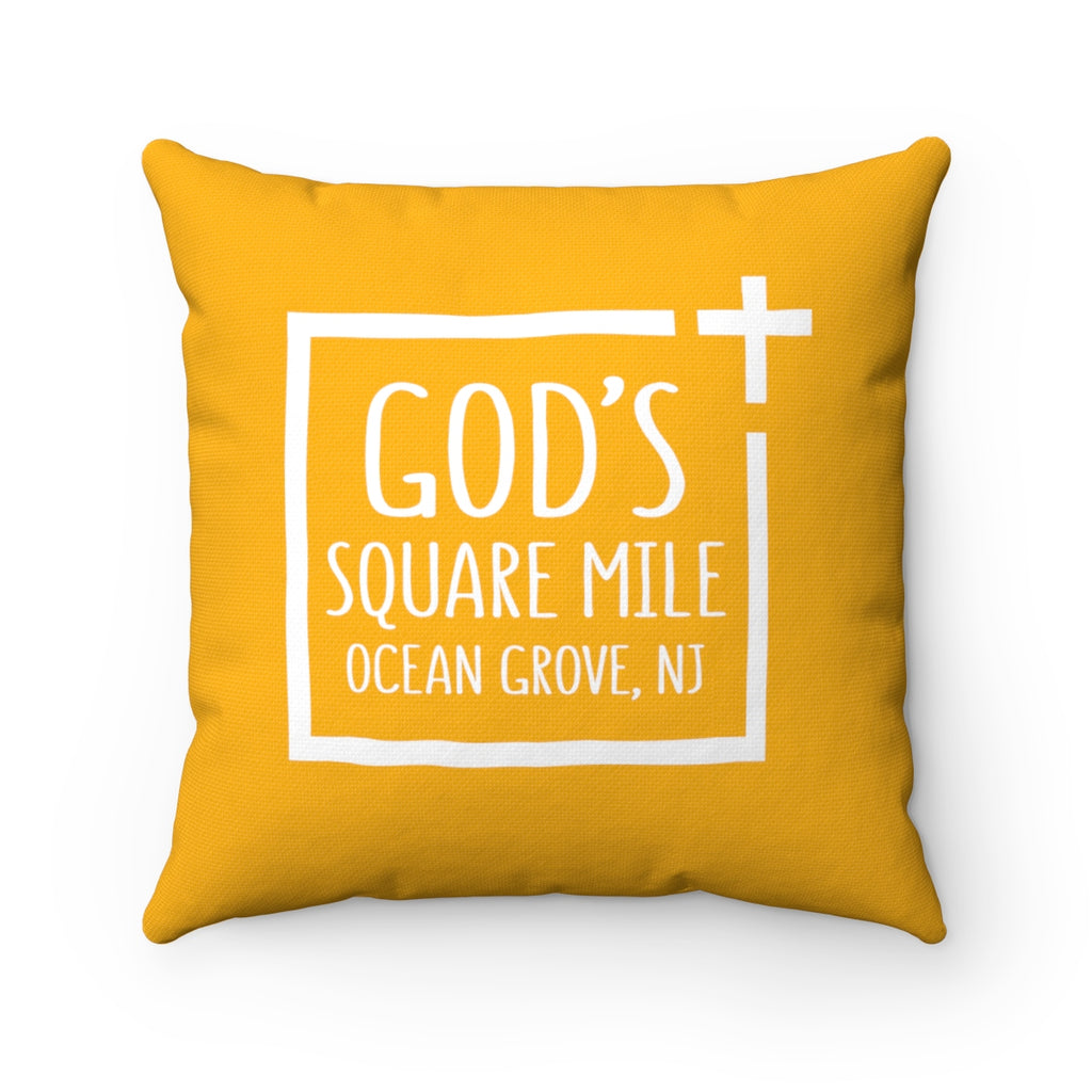 God's Square Mile Pillow: Citrus - GoGannon Designs