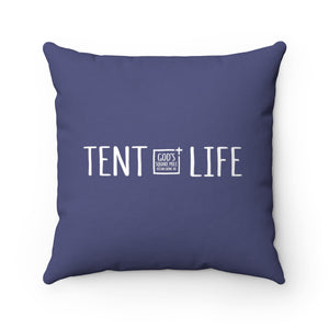Tent Life Pillow: Faded Denim