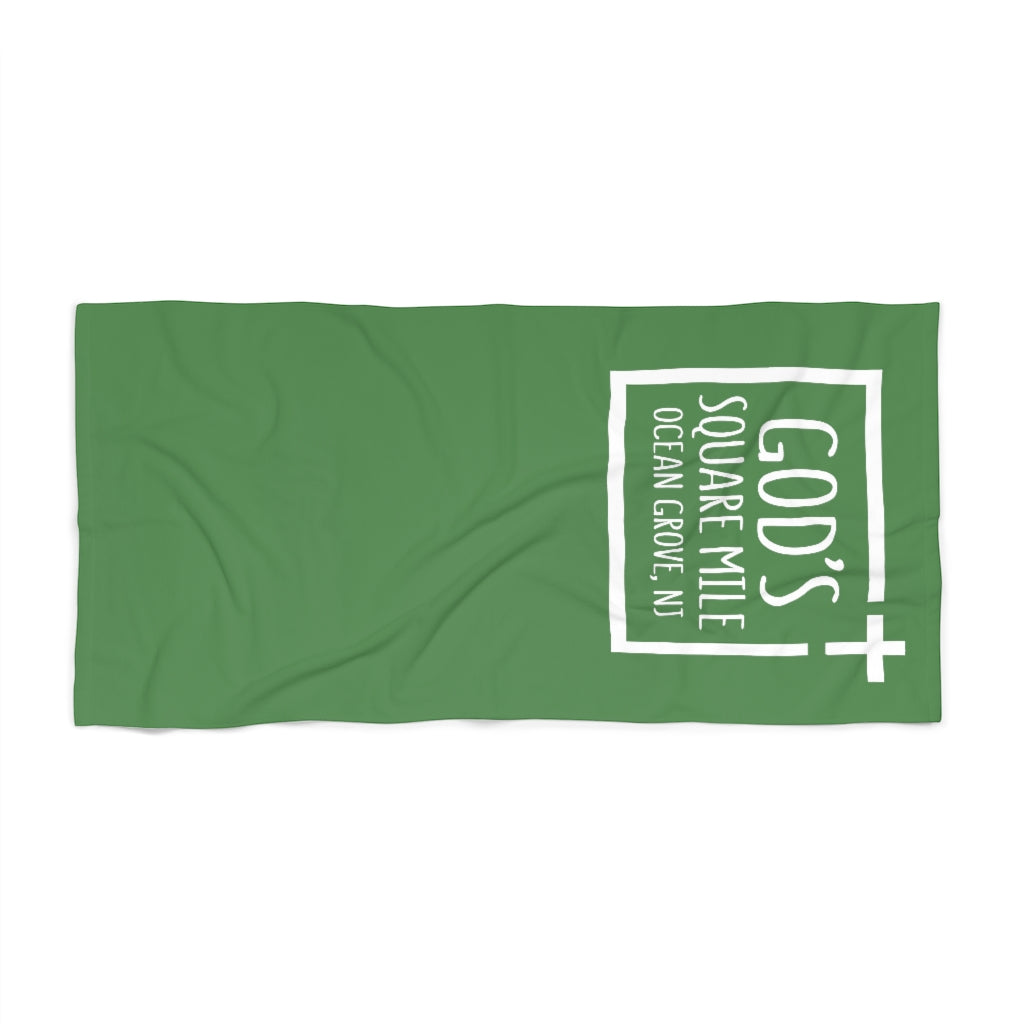God's Square Mile Beach Towel: Green