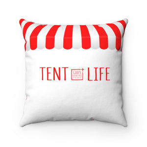 Tent Life Awning Pillow: Red & White Stripe