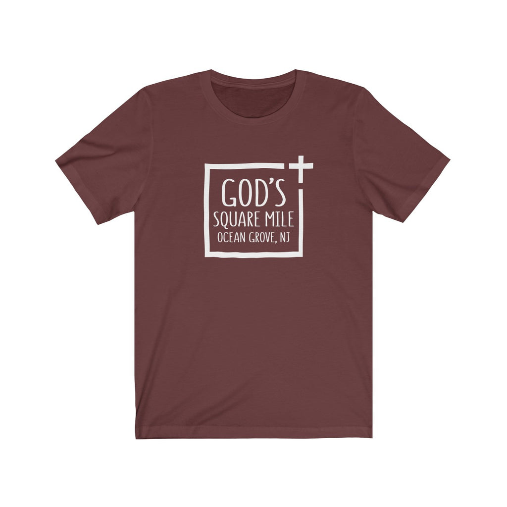 God's Square Mile Short Sleeve Tshirt: Multiple Colors
