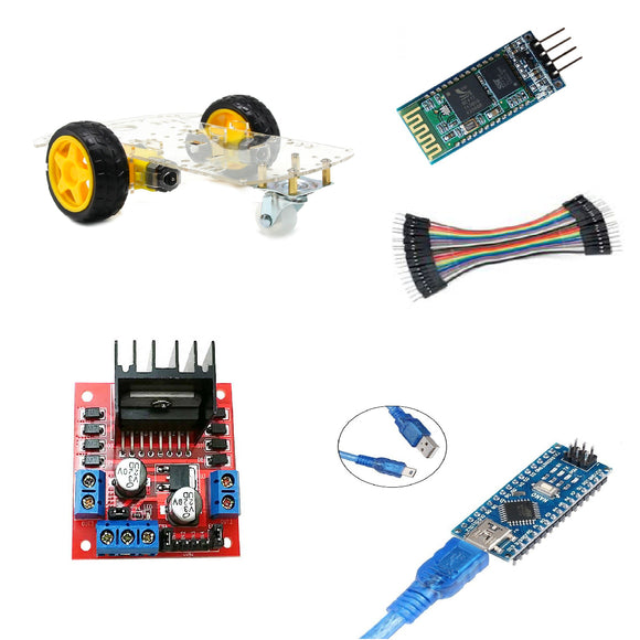 Kit Carro Bluetooth Arduino Nano Robótica