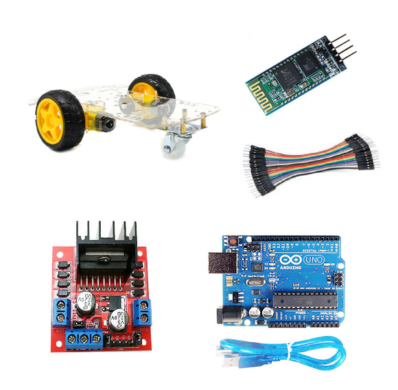 Kit Carro Bluetooth Arduino Uno R3 Robótica