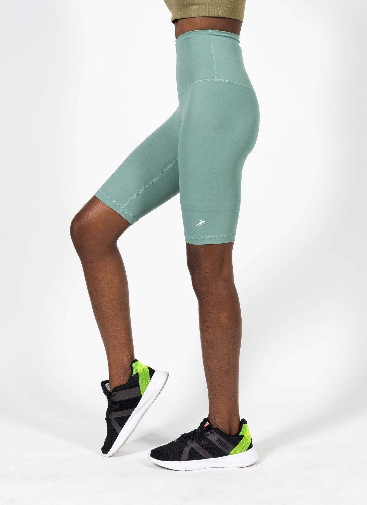 Endurance Green Biker Shorts