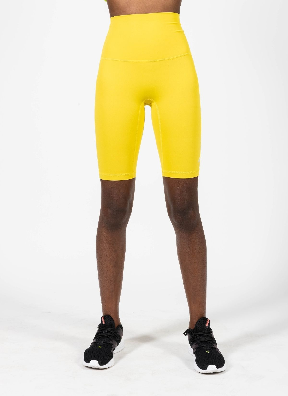 Endurance Yellow Biker Shorts