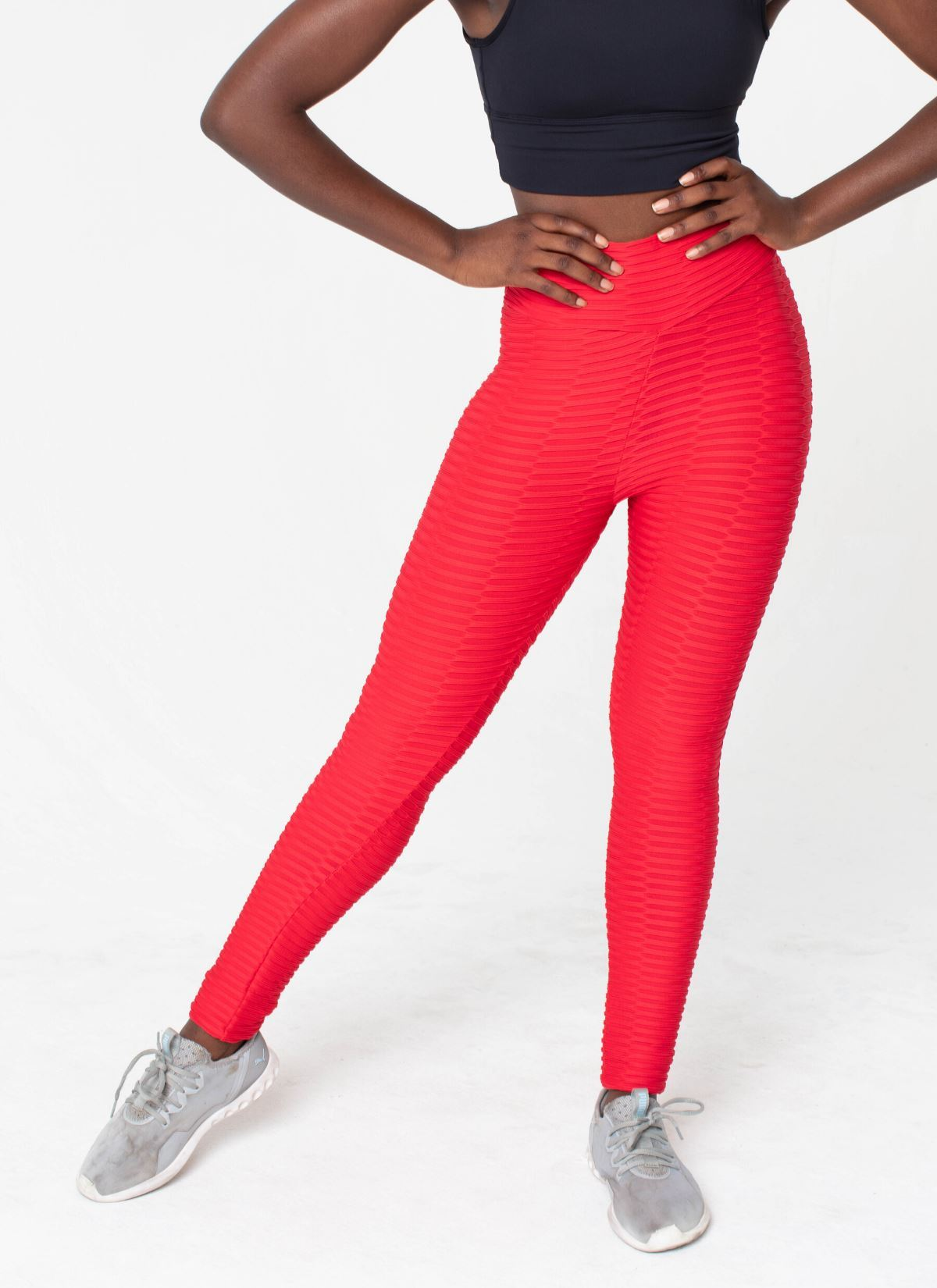 Shape Cellulite-Friendly Seamless Red Leggings - Athlete Body
