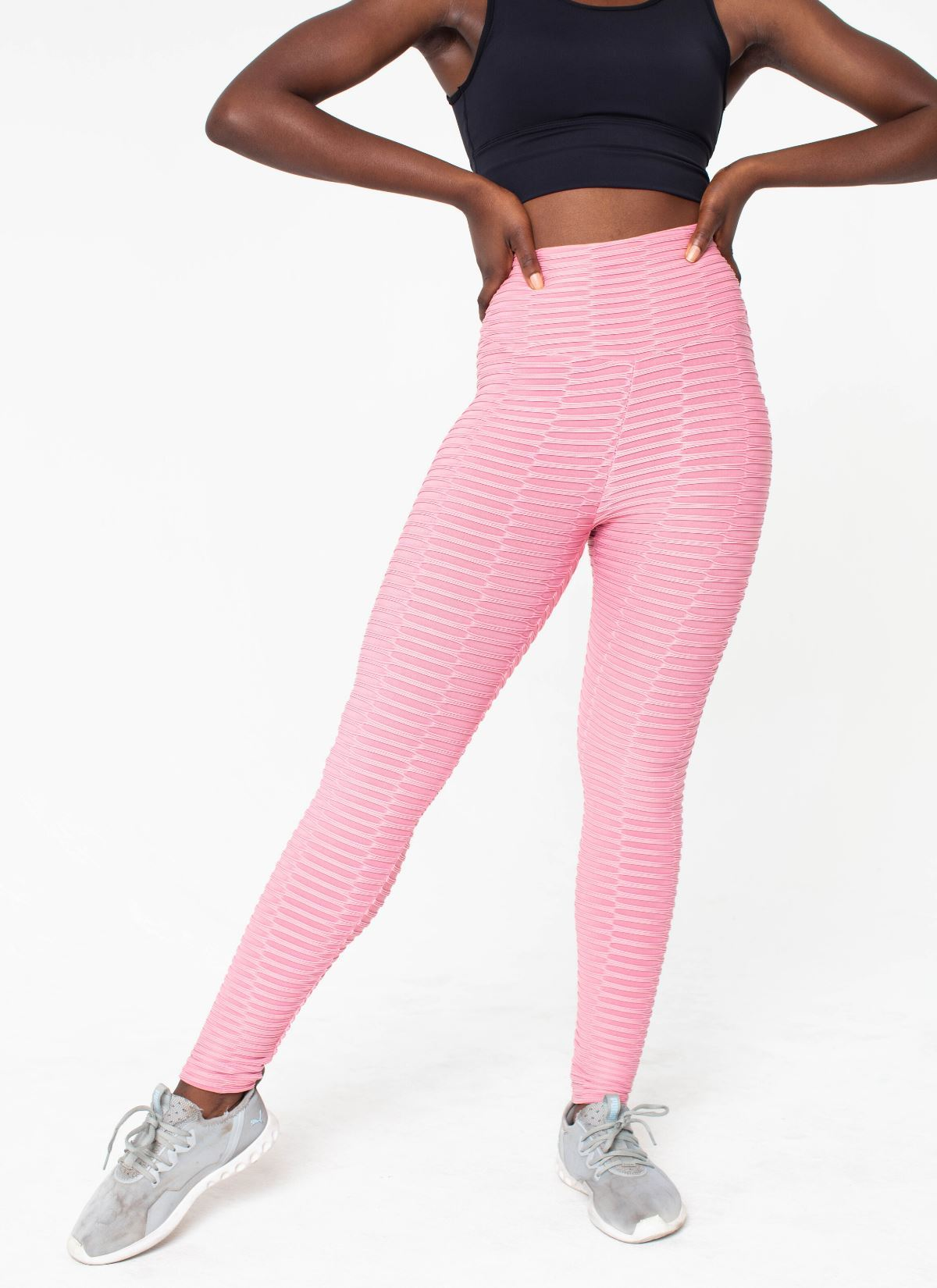 Shape Cellulite-Friendly Pink Seamless Leggings - Athlete Body