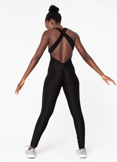 Namaste Black Cellulite-Friendly Yoga One-Piece - Athlete Body