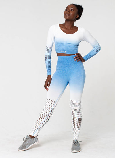 Dash Seamless Powder Blue Yoga Set - Athlete Body