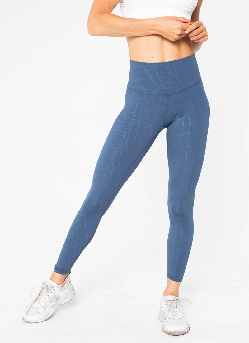 Diamond Seamless Blue Leggings