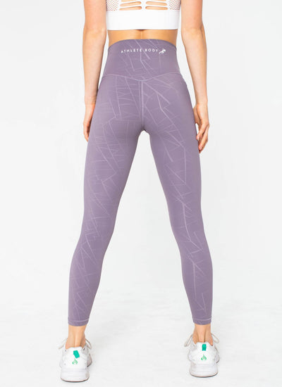Diamond Seamless Purple Leggings - Athlete Body