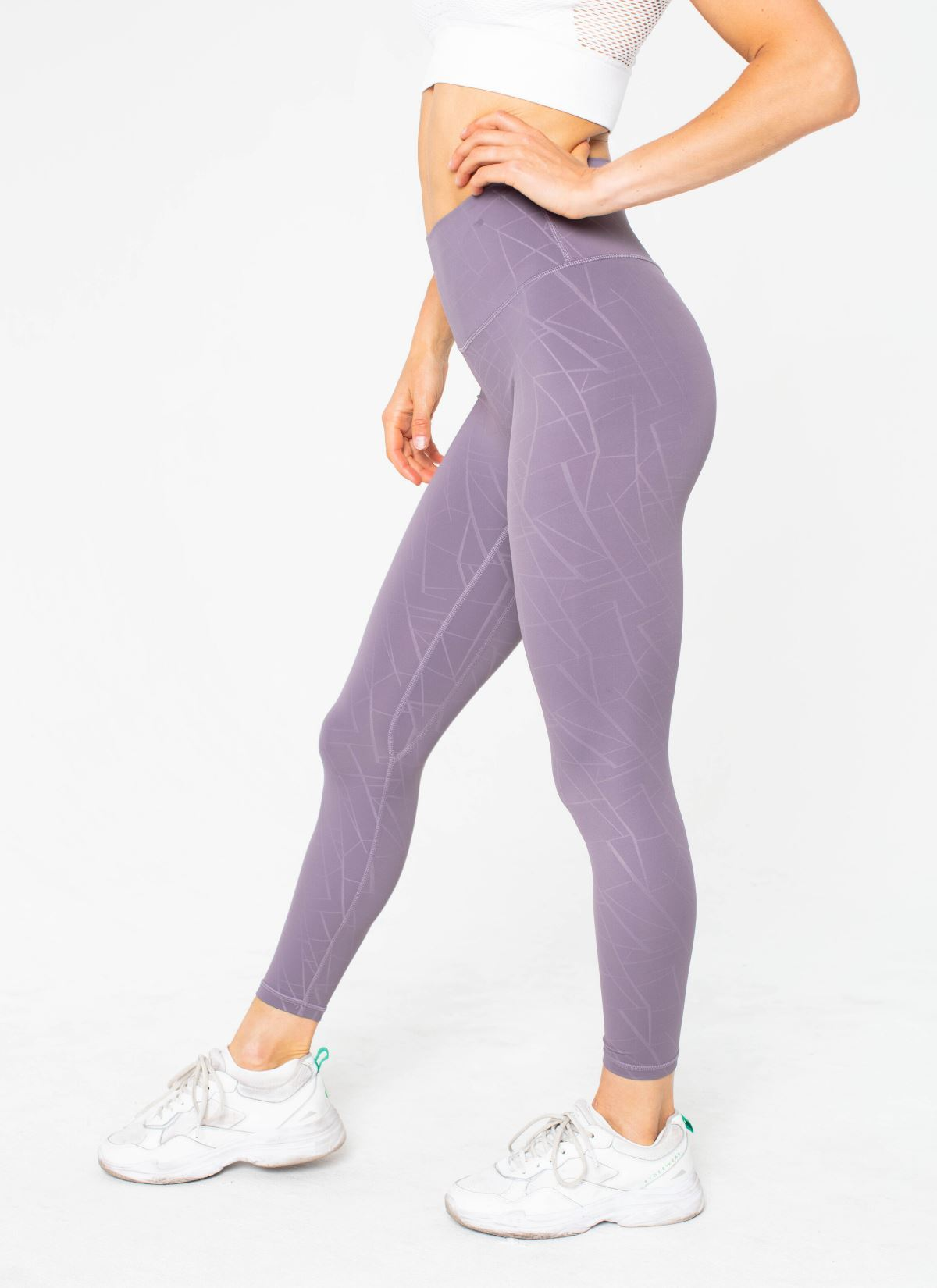 Diamond Seamless Purple Leggings