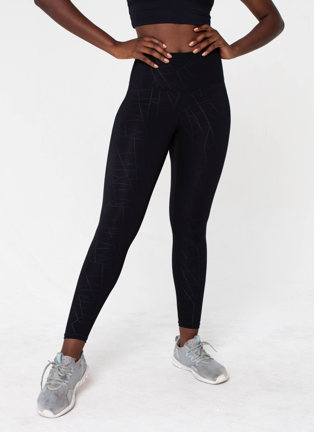Diamond Seamless Black Leggings