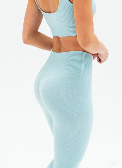 Flex Seamless Light Blue Yoga Set - Athlete Body