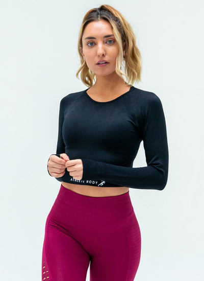 Velocity Quick Dry Black Top - Athlete Body