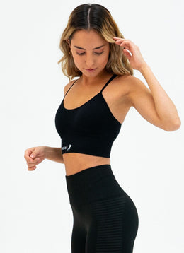 Outlast Black Sports Bra - Athlete Body