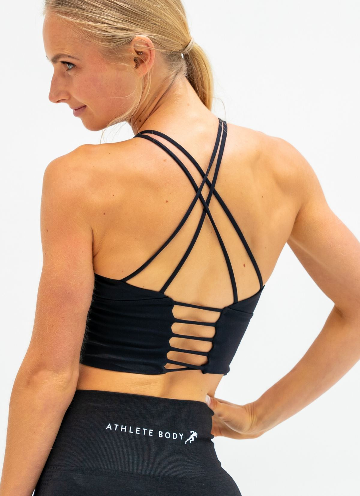 Shout Out Black Sports Bra - Athlete Body