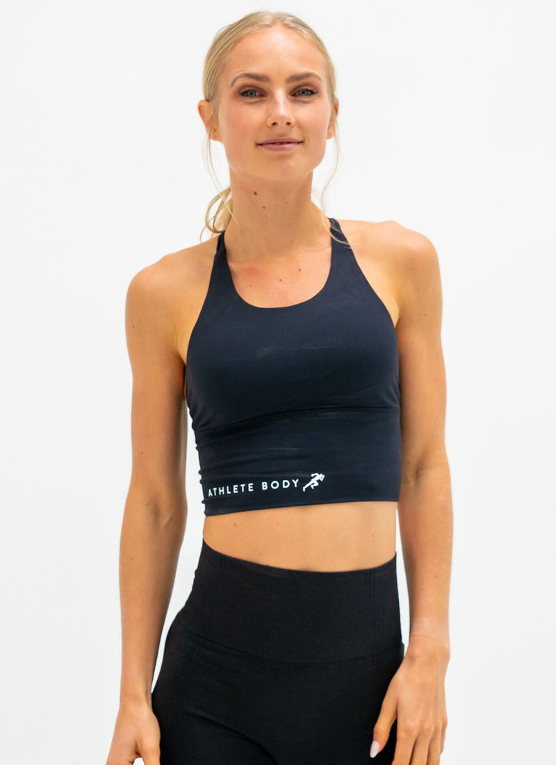 Shout Out Black Sports Bra