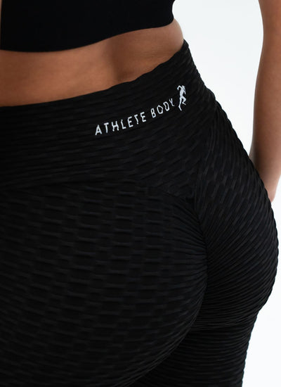 Vision Cellulite-Friendly Black Leggings - Athlete Body