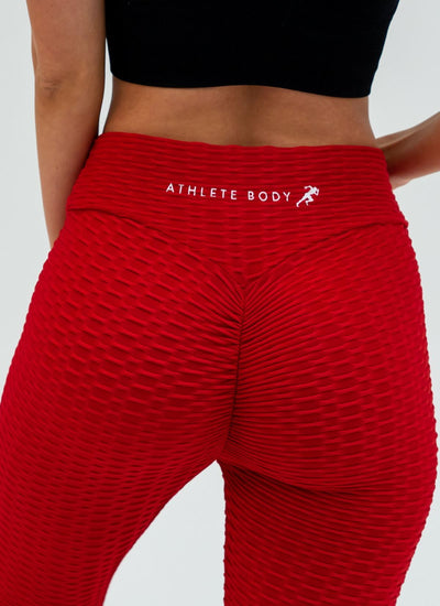 Vision Cellulite-Friendly Red Leggings - Athlete Body