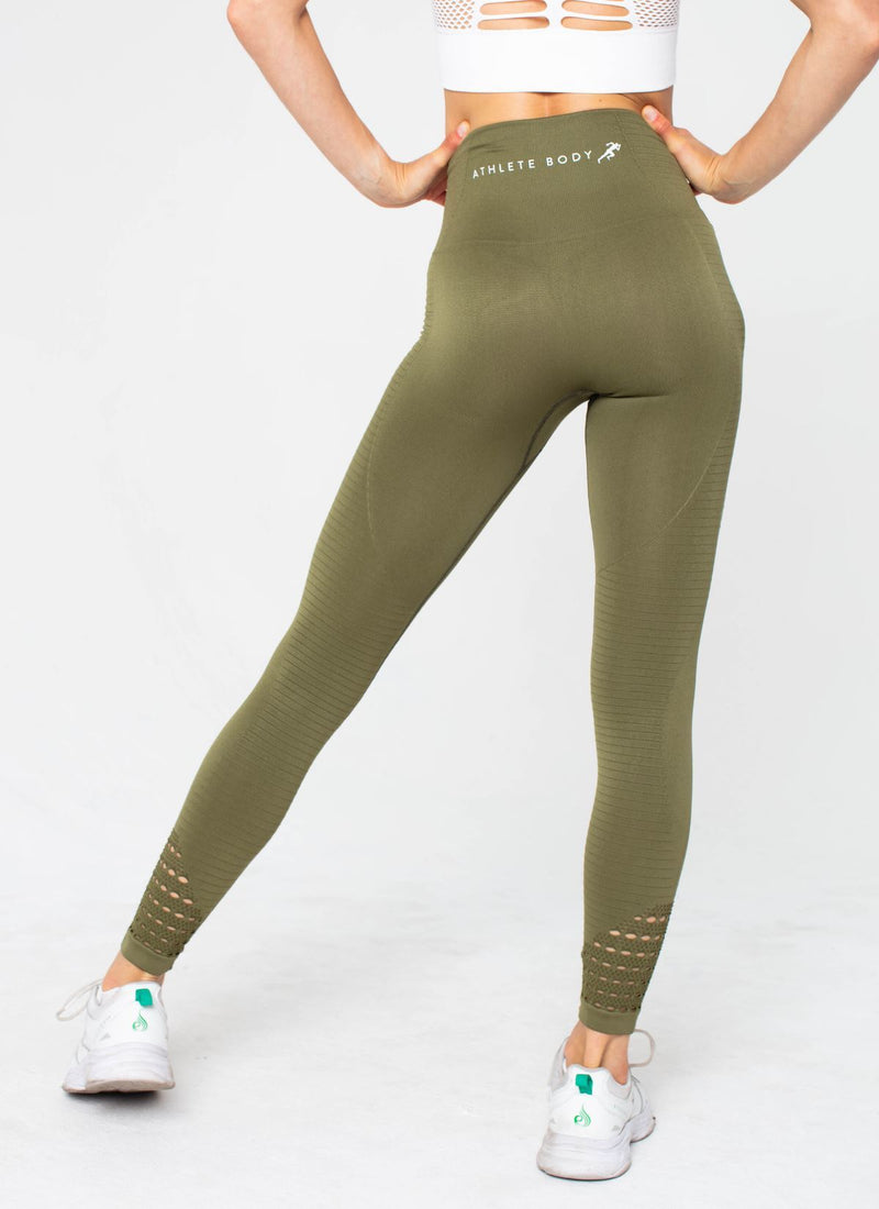 Highlight Seamless Green Leggings