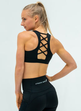 Elevate Black Sports Bra - Athlete Body