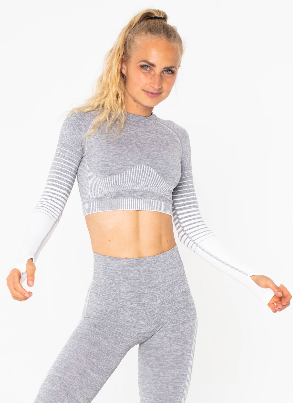 Halo Seamless White Top - Athlete Body