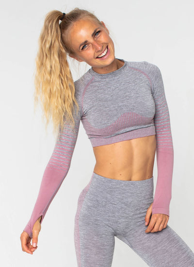 Halo Seamless Pink Top - Athlete Body