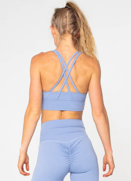 Legacy Blue Sports Bra - Athlete Body