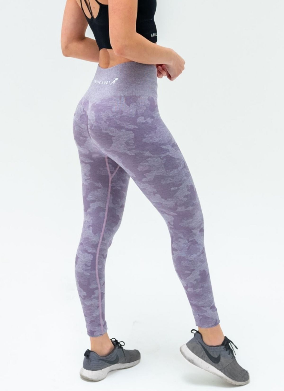 Triumph Seamless Purple Camo Leggings - Athlete Body