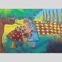 Alice Looking Glass | Oil on Canvas | Size: 36x48 | No Frame