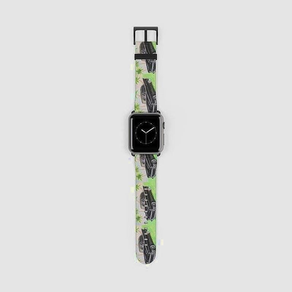 Apple Watch Band 1 2 3 4 and 5 devices (Artist David Tobias) - 38 mm / Black Matte - Accessories