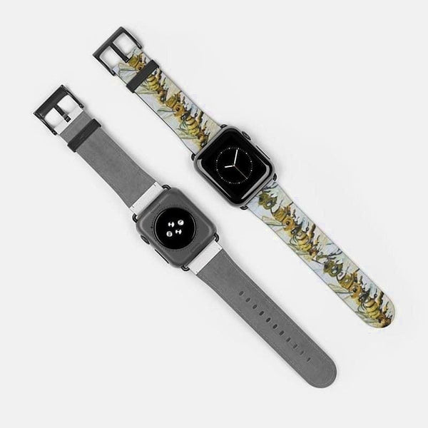Apple Watch Band 1 2 3 4 and 5 devices (Artist Samuel Gillis) - 38 mm / Black Matte - Accessories