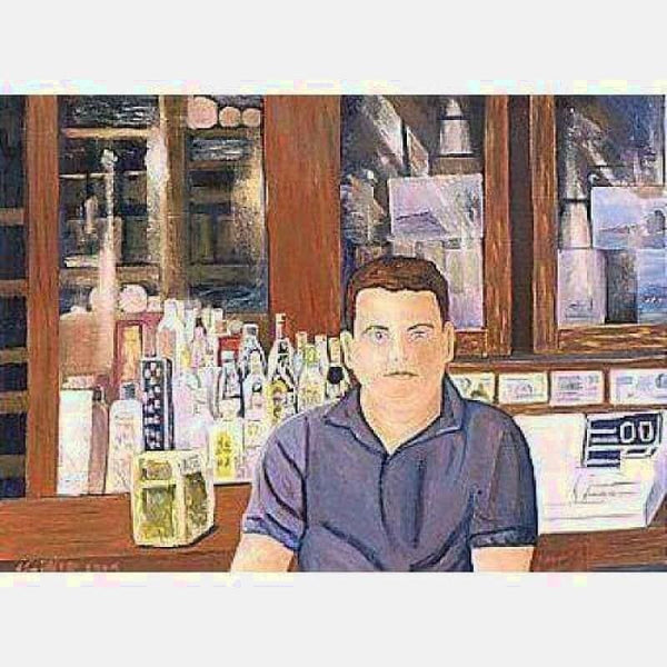 At the Bar | Oil on Canvas | Size 30x40 | No Frame