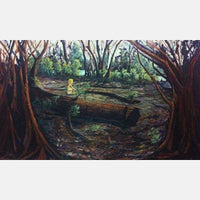 Baby in The Forest | Mix Medium on Canvas | Size: 36X60 | Framed