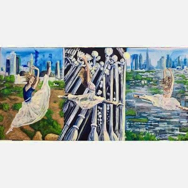 Ballet LA | Acrylic on Canvas | Size: 24x48 | No Frame