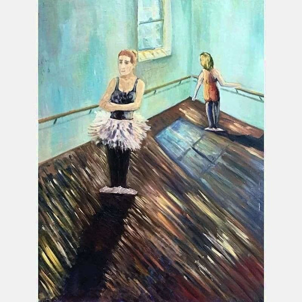 Ballet | Oil on Masonite | Size: 40x30 | No Frame