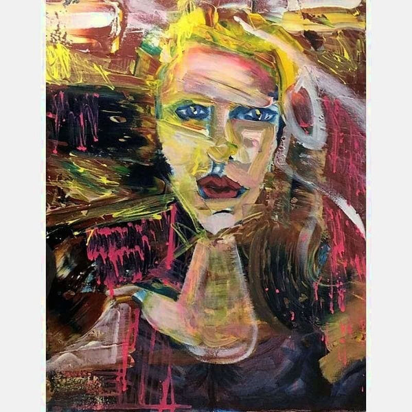 Blonde | Mix Medium on Canvas | Size: 20X16 | No Frame