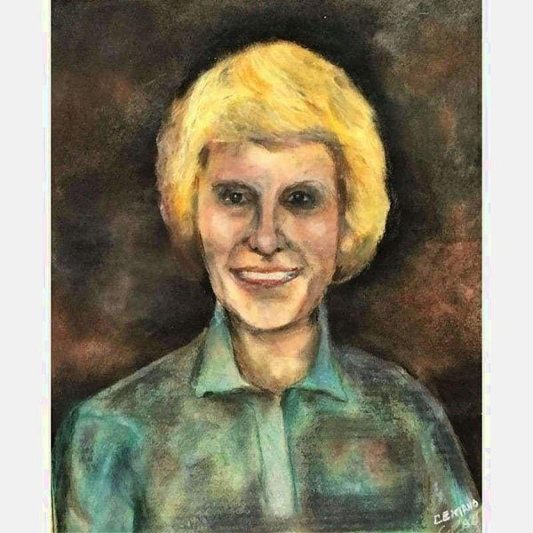 Blonde with Smile | Oil on Canvas | Size: 20X18 | No Frame