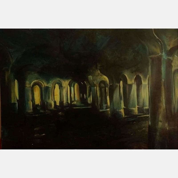 Blue Cathedral | Oil on Canvas | 24x36 | No Frame