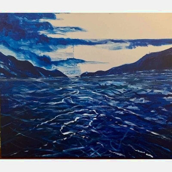 Blue Wave | Acrylic on Canvas | Size: 24x18 | No Frame