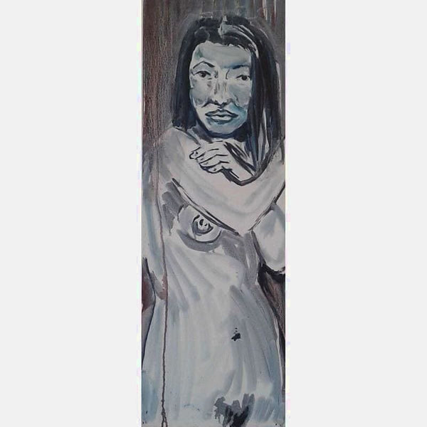 Claudine Dripped | Oil on Canvas | Size: 36X12 | No Frame