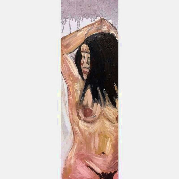 Claudine Nude 3 | Oil on Canvas | Size: 36X12 | No Frame
