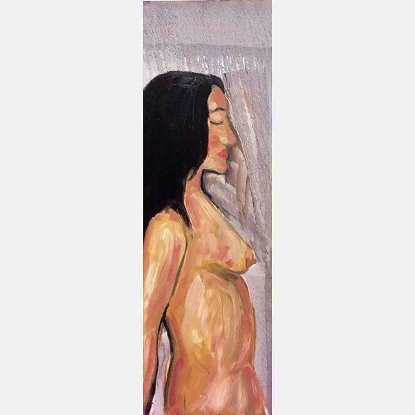 Claudine Nude 2 | Oil on Canvas | Size: 36x12 | No Frame
