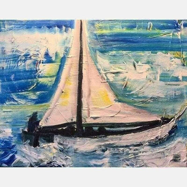 Clear Sailing | Acrylic on Canvas | Size: 16x20 | No Frame