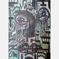 Eyed | Mix Medium on Canvas Board | Size: 12X9 | No Frame