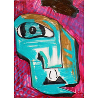 Eyed | Oil Pastel on Paper | Size 12x9 | No Frame