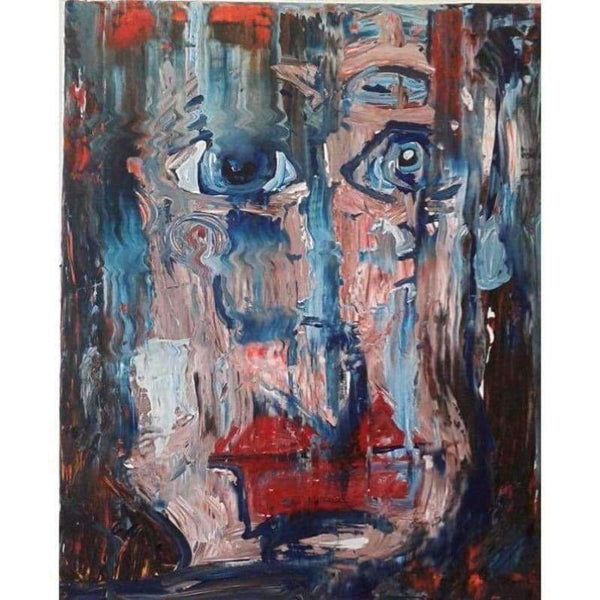 Faced | Oil on Canvas | Size: 30x24 | No Frame